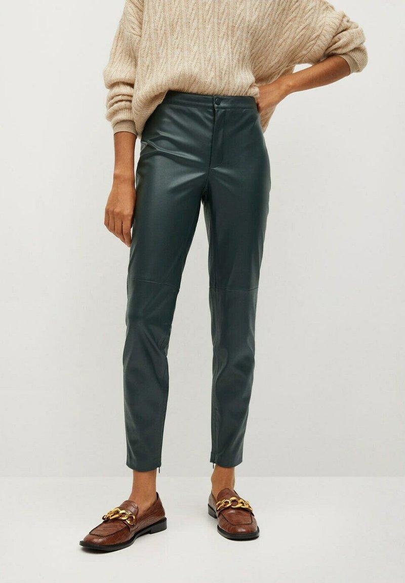 Mango - LONDONPU - Leggings - Trousers - donkergroen