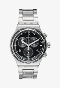 Swatch - NIGHT FLIGHT - Chronograph watch - silver-coloured - 1