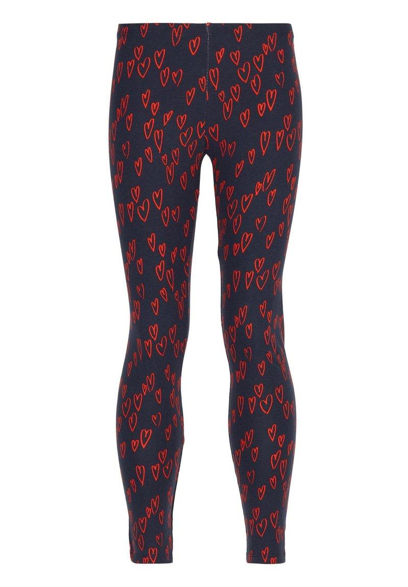 Calzedonia - MIT HERZPRINT - Leggings - Trousers - rot - 210c - blu/cuori rossi
