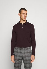 Burton Menswear London - 2 PACK - Polo - black / bordeaux