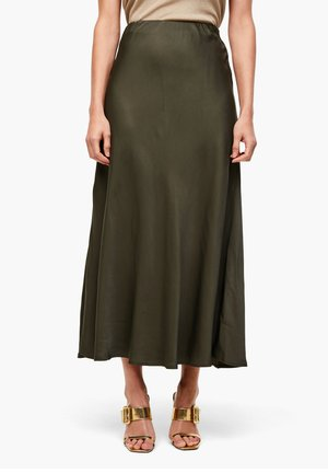 Maxi skirt - dark khaki green