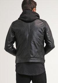 Serge Pariente - ERIC HOOD - Leather jacket - black - 2