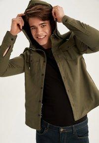 DeFacto - Denim jacket - khaki - 4
