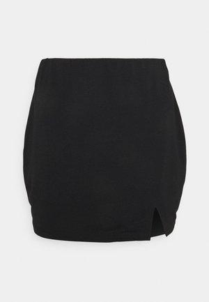 SPLIT SIDE SKIRT - Mini skirt - black