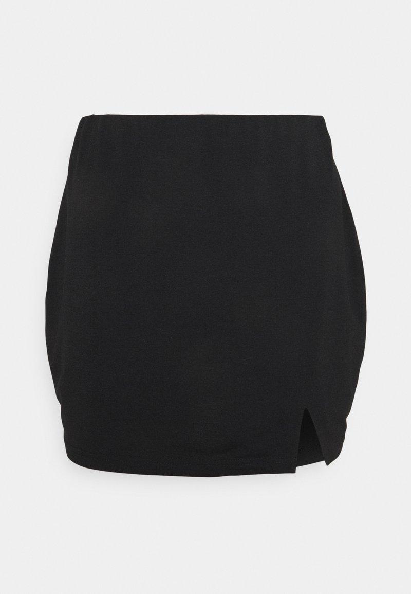 South Beach Petite - SPLIT SIDE SKIRT - Mini skirt - black