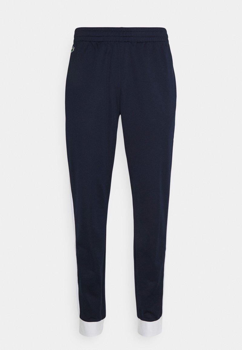 Lacoste Sport - TENNIS PANT BLOCK - Teplákové kalhoty - navy blau/weiß