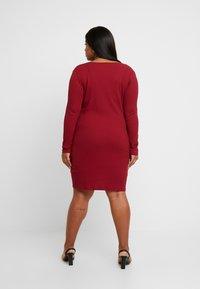 Glamorous Curve - ZIP THROUGH LONG SLEEVE DRESS - Denní šaty - burgundy - 3