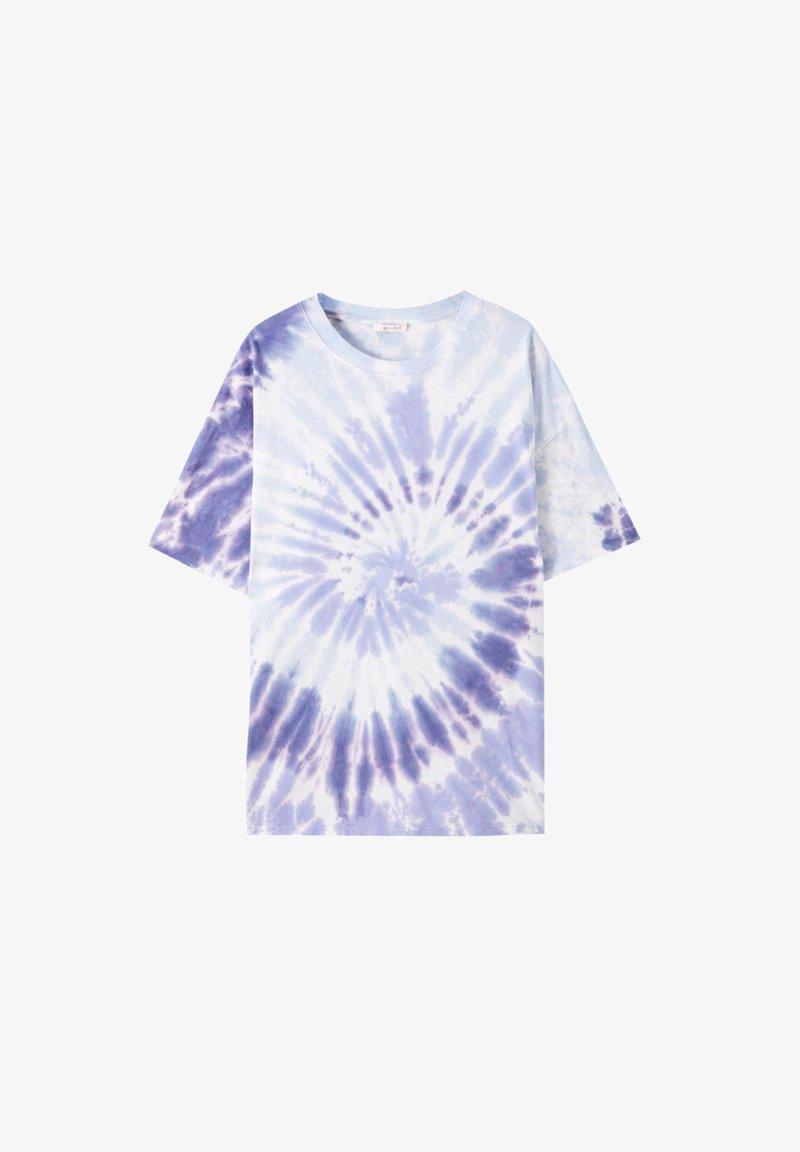 PULL&BEAR - Print T-shirt - purple