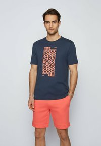 BOSS - Print T-shirt - dark blue - 0