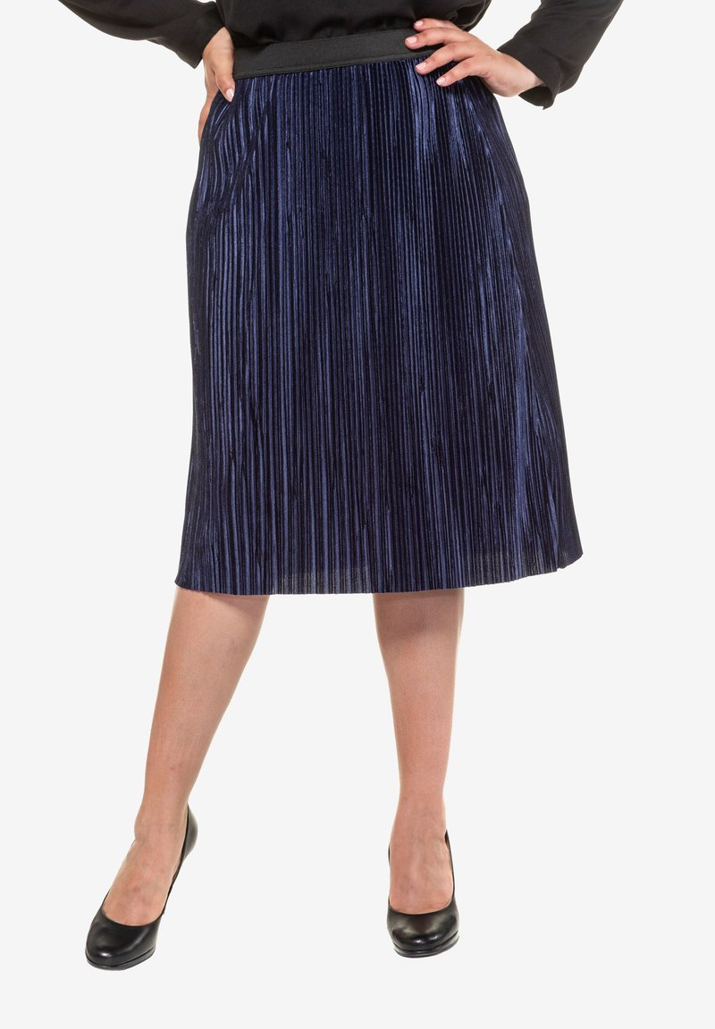 Ulla Popken - A-line skirt - deep dark blue