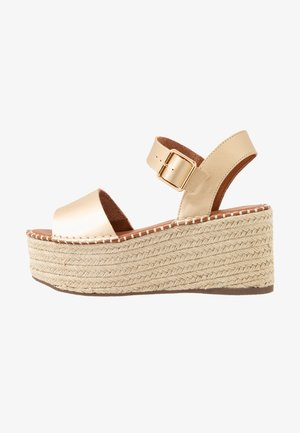 DOVE WEDGE - Sandalen met plateauzool - gold