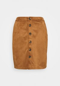 s.Oliver - KURZ - Pencil skirt - brown - 3