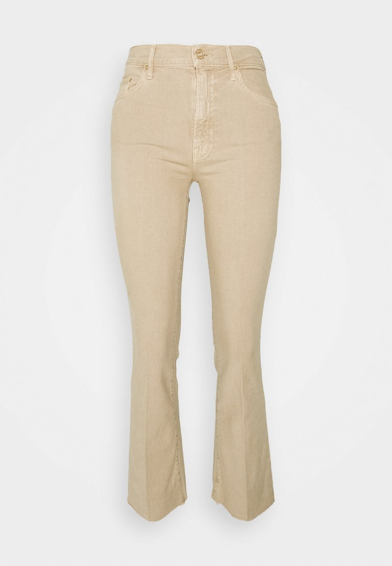 Mother - THE INSIDER ANKLE FRAY - Flared Jeans - khaki