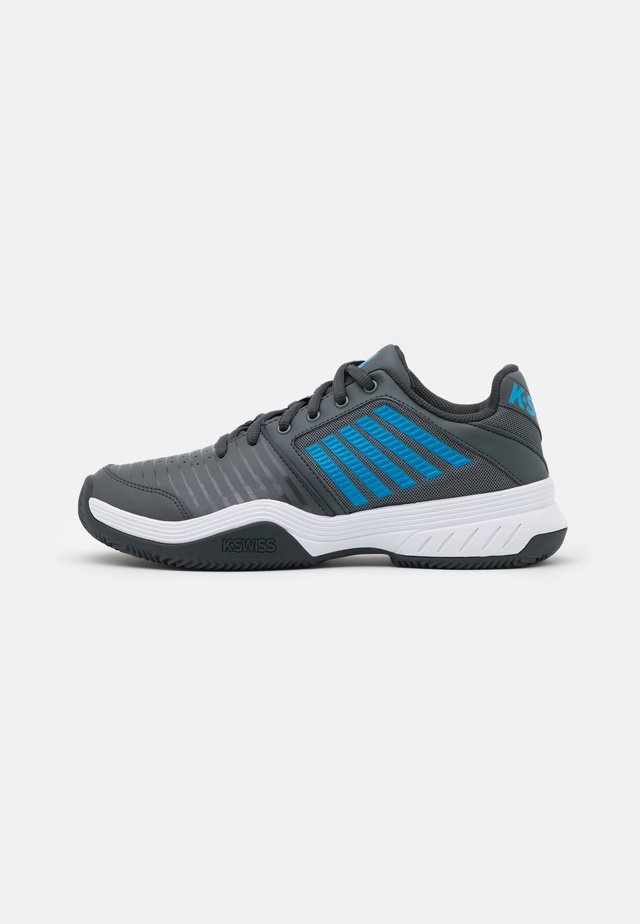 COURT EXPRESS - da tennis per terra battuta - dark shadow/white/swedish blue