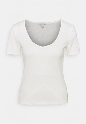 POINTELLE - Print T-shirt - off white