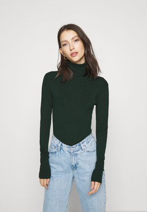 KIRSTEN TURTLENECK - Strikpullover /Striktrøjer - dark green