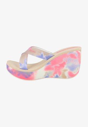 LIPSTICK STRAPS - Sandalen met sleehak - beige