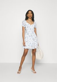 Hollister Co. - SHORT DRESS - Day dress - white floral - 1