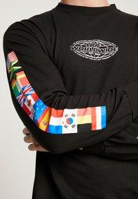 HUF - WORLD TOUR TEE - Long sleeved top - black - 3