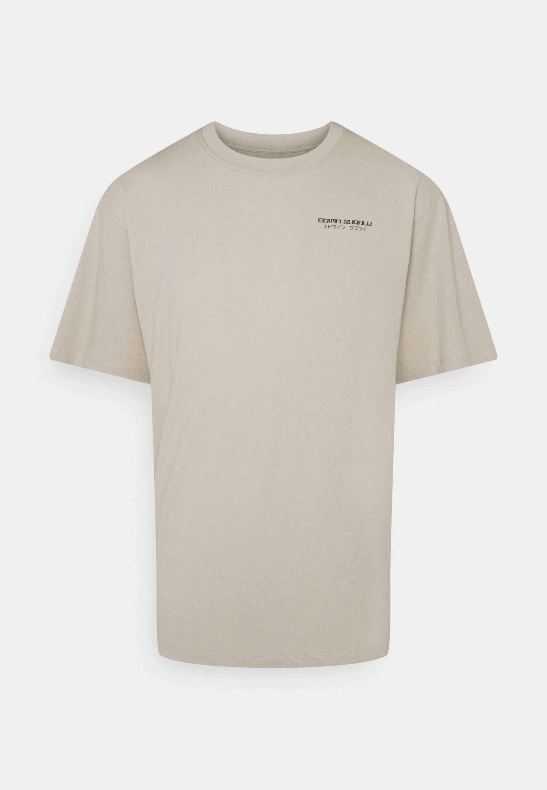 Women MOURI UNISEX - Print T-shirt - silver cloud