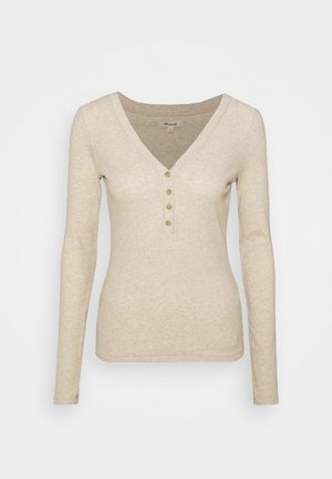 SEMI COLON TOP CLEAN - Long sleeved top - heather camel