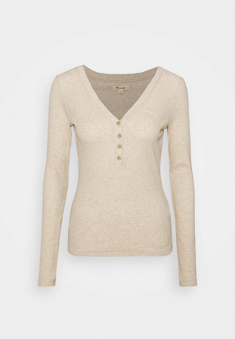 Madewell - SEMI COLON TOP CLEAN - Long sleeved top - heather camel