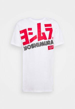 YOSHIMURA OVERSIZED TEE - T-shirt print - white