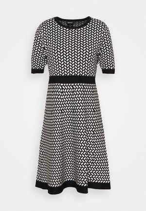 Jumper dress - black/ivory birdseye