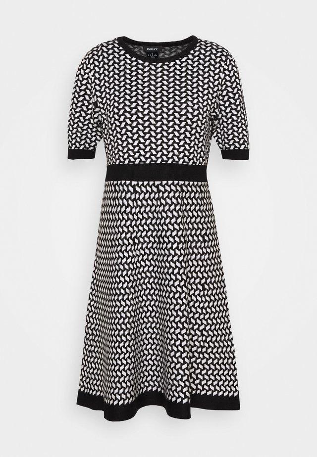 Jumper dress - black/ivory birdseye