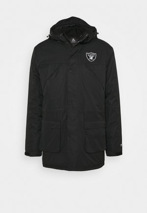 NFL OAKLAND RAIDERS ICONIC BACK TO BASICS HEAVYWEIGHT JACKET - Chaqueta de entrenamiento - black