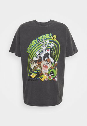OVERDYED WITH LOONEY TUNES GRAPHIC UNISEX - Print T-shirt -  charcoal