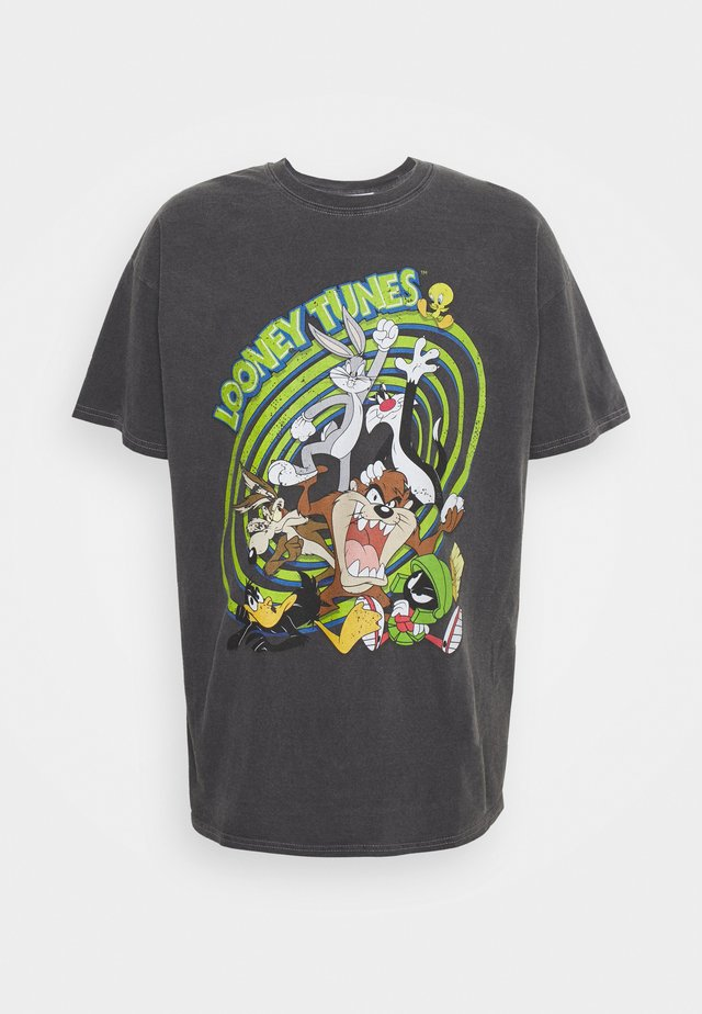 OVERDYED WITH LOONEY TUNES GRAPHIC UNISEX - T-shirt imprimé -  charcoal