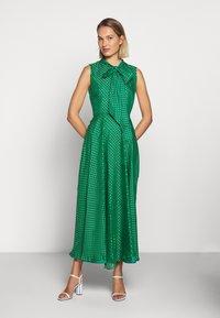 LK Bennett - DR CONNIE - Maxi šaty - emerald green/ivory - 0