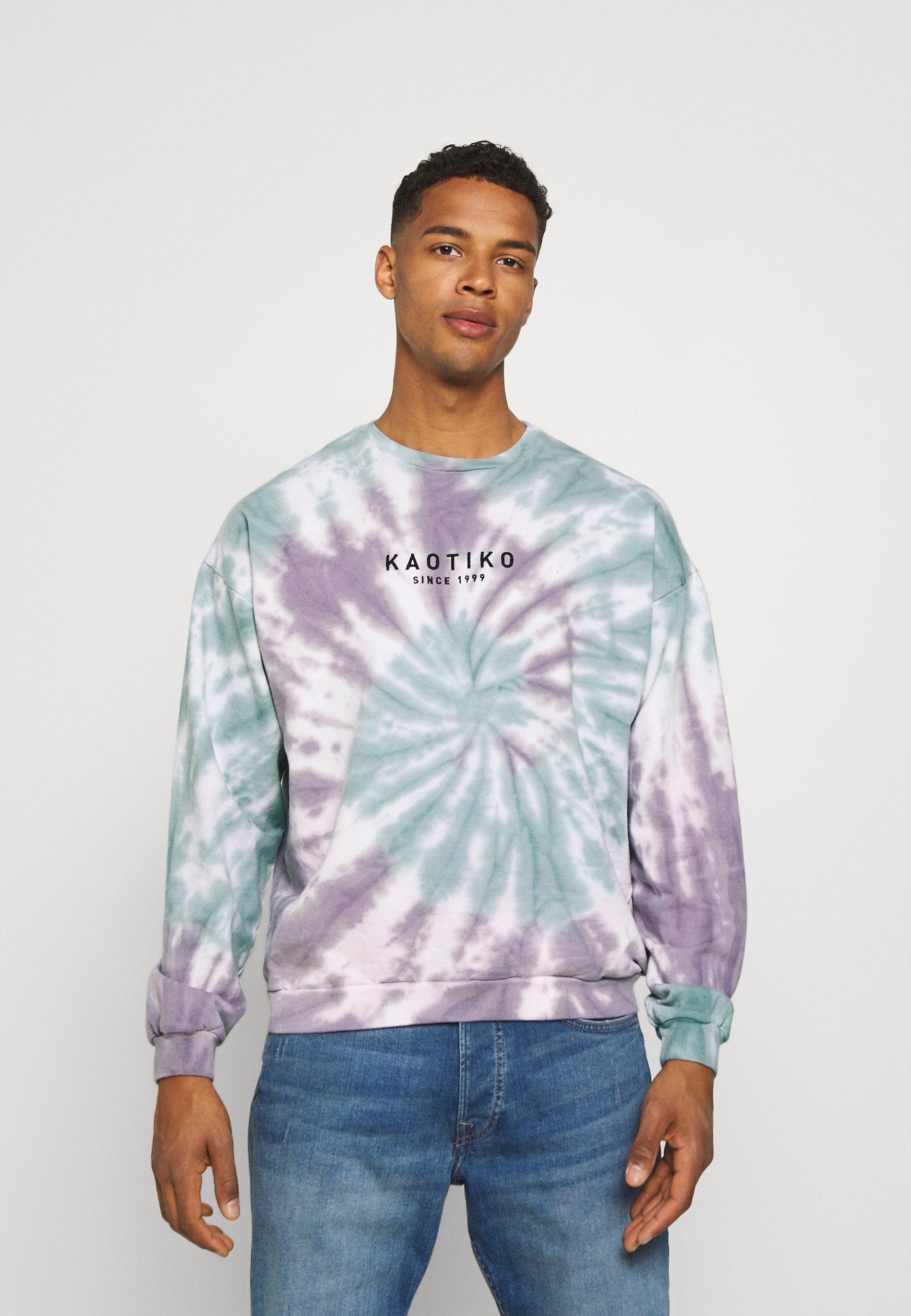 Men CREW TIE DYE SPIRAL UNISEX - Sweatshirt - purple