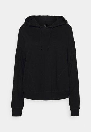 SLUB HOODIE - Pyjamashirt - true black