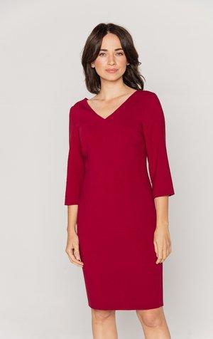 Sukienka etui - bordowy