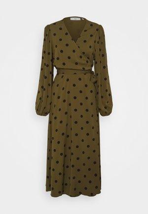 ELASTICA BALLON - Day dress - dark olive