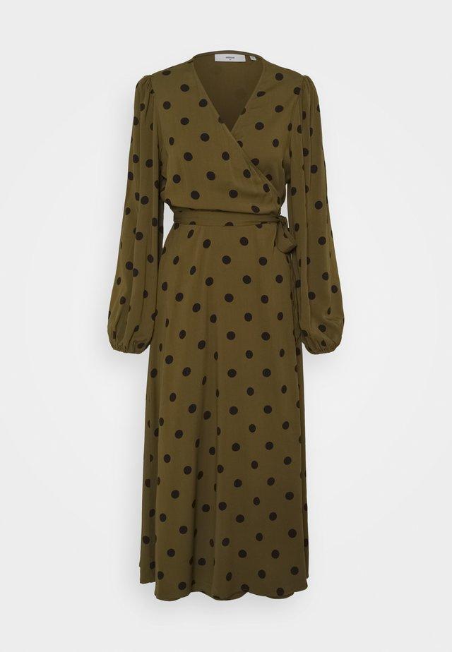 ELASTICA BALLON - Vapaa-ajan mekko - dark olive