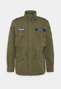 Polo Ralph Lauren - HERRINGBONE FIELD JACKET - Summer jacket - soldier olive - 5