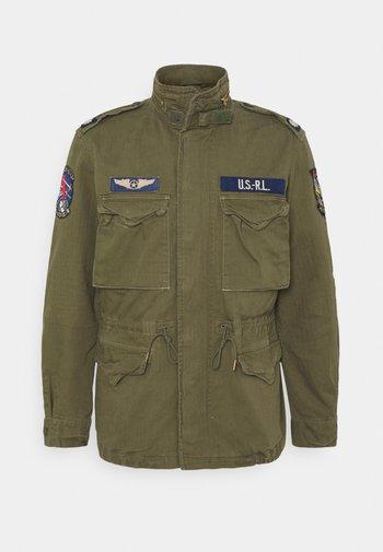 HERRINGBONE FIELD JACKET - Summer jacket - soldier olive