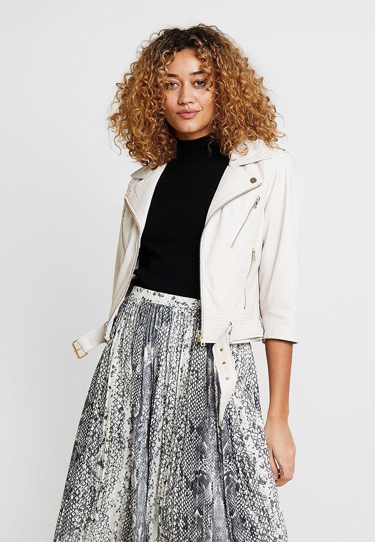 Ibana - Leather jacket - white