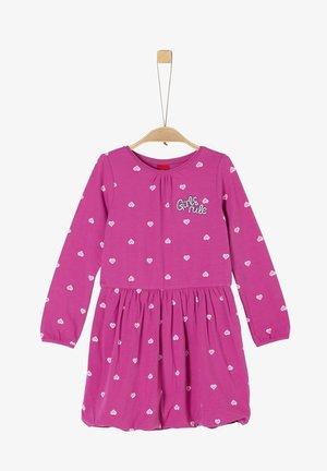 Jersey dress - pink aop