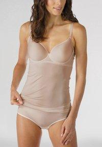 mey - BH HEMD SERIE JOAN - Undershirt - cream tan - 1