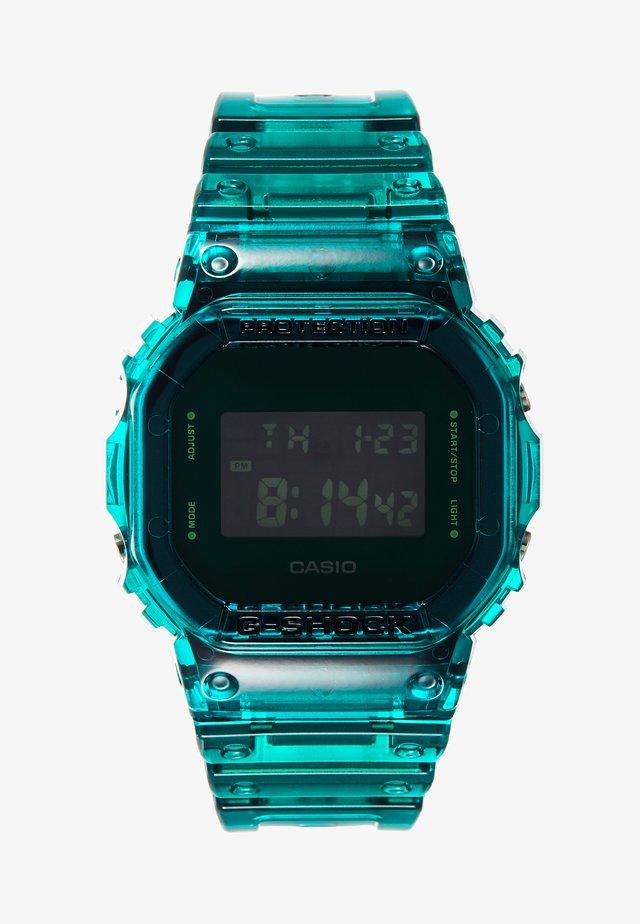 DW-5600 SKELETON - Digitalklokke - green