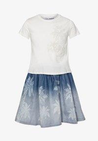 Desigual - VEST MAZATLÁN - Jersey dress - blanco - 0