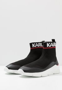 KARL LAGERFELD - VERGE PULL ON RUNNER - Zapatillas altas - black - 2