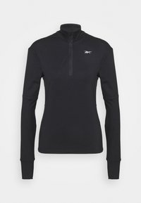 Reebok - SPEEDWICK RUNNING 1/4 ZIP - Fleece jumper - black - 0
