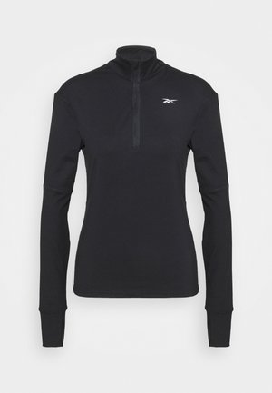 SPEEDWICK RUNNING 1/4 ZIP - Fleece jumper - black