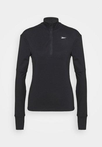 SPEEDWICK RUNNING 1/4 ZIP - Fleece jumper - black
