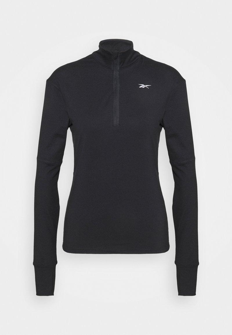 Reebok - SPEEDWICK RUNNING 1/4 ZIP - Fleece jumper - black